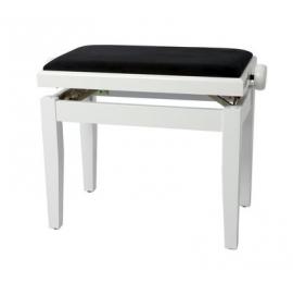 Banquette piano Deluxe blanc mat / noir