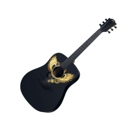 Guitare LAG W-GOLD-D Graphic Collection WINGS