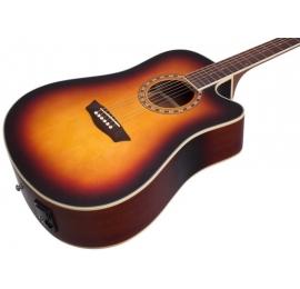 Guitare Washburn WD7SCEATBM Electro-acoustique