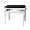 Banquette piano Deluxe Blanc brillant / noir
