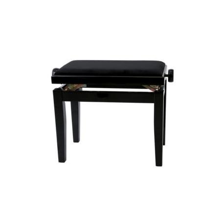 Banquette piano Deluxe noir brillant / noir