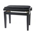 Banquette piano Deluxe noir mat / noir