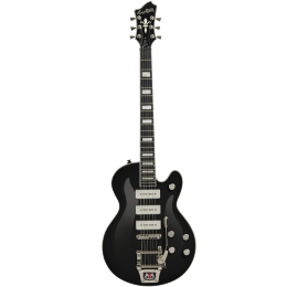Guitare Hagstrom Trémar Super swede P90 Black